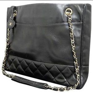 Coming soon chanel lambskin quilted tote vintage